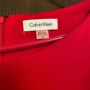 Calvin Klein size 16 red dress